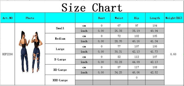 Sexy Ripped Tassel Jeans For Women High Waist Jeggings Stretch Denim Trousers Hole Hollow Out Slim Pencil Pants Femme Plus Size - SunLify