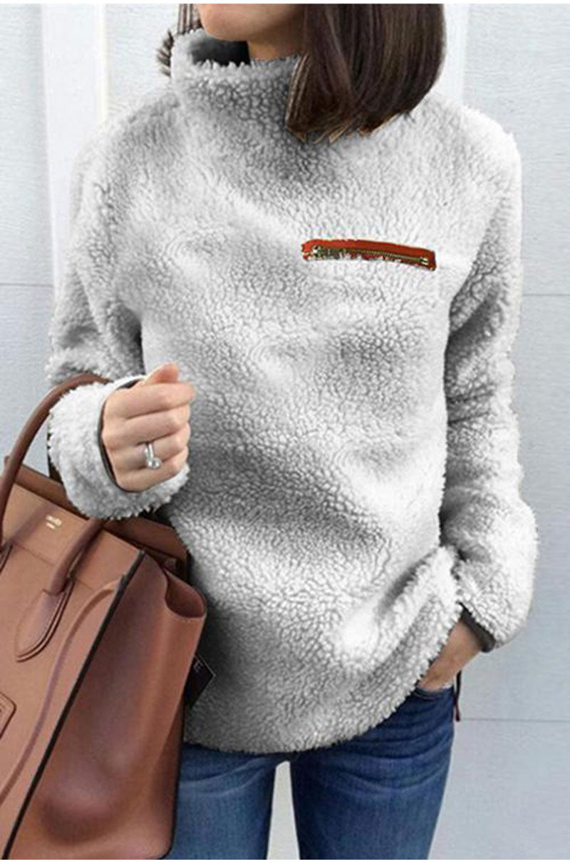 Buy Cheap Lossky Women Sweatshirts Autumn Winter Top Long Sleeve Plush Warm Pullover Kpop Ladies Tops Women Clothes  Pure Sweatshirt Online - SunLify
