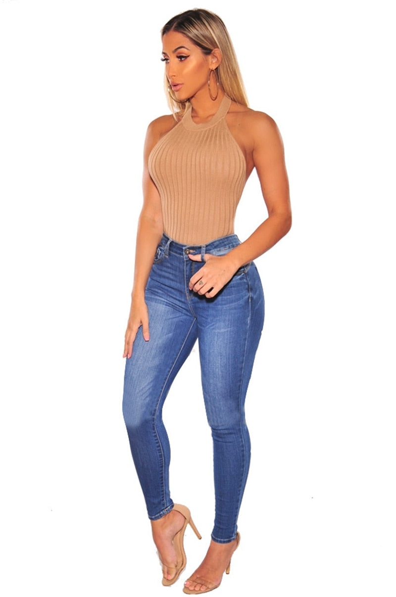 Buy Cheap Jeans for Women mom Jeans High Waist Jeans female High Elastic plus size Stretch Jeans Ladies washed denim skinny pencil pants Online - SunLify