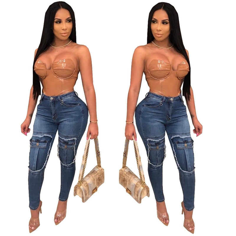 Fashion Casual jeans women mom jeans pants boyfriend jeans for women Mid waist stretch skinny pants ladies push up jeans denim - SunLify