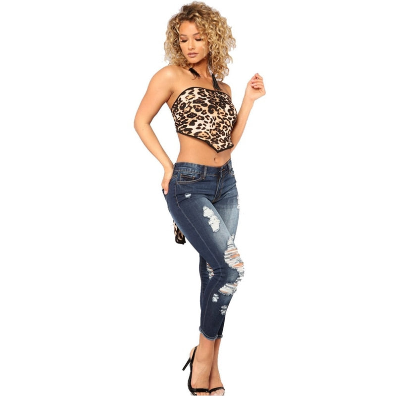 Buy Cheap fashion Low Waist Skinny Spring Ripped Jeans Women Vintage Denim Pants Holes Pencil Pants Lady Casual push up Jean Trousers Online - SunLify