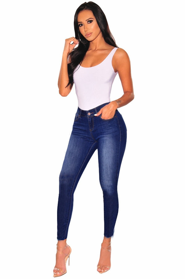 Jeans for Women mom Jeans High Waist Jeans female High Elastic plus size Stretch Jeans Ladies washed denim skinny pencil pants - SunLify