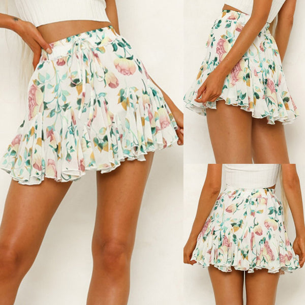 Buy Cheap Women's Floral Printing Party Short A-Line Skirts Online - SunLify