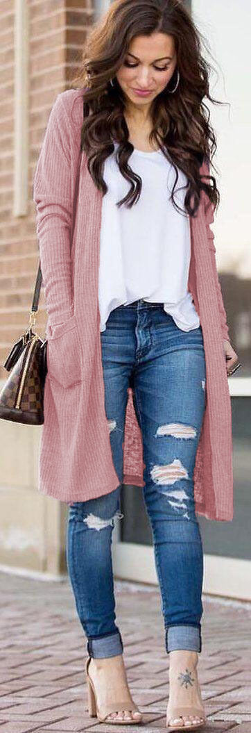 Buy Cheap Casual Knitted Long Cardigan Female Loose Sweater Women Coat Online - SunLify