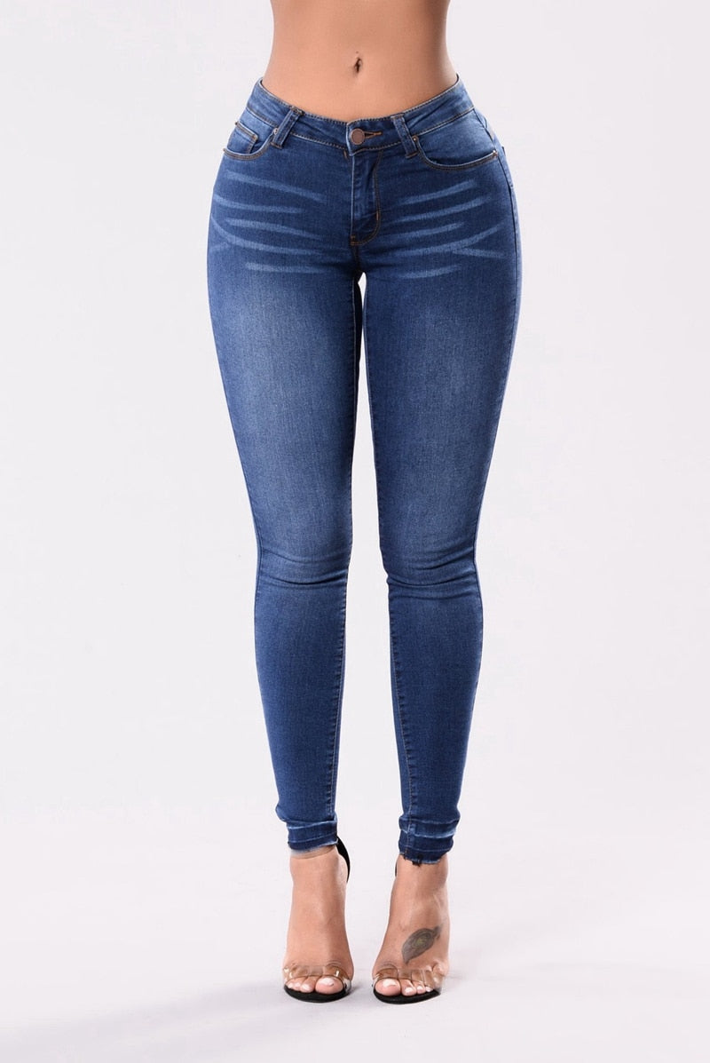 Buy Cheap New High Waist push up denim jeans Women Slim fit calca jeans ladies elastic skinny jeans Sexy stretch vintage Pencil pants Online - SunLify