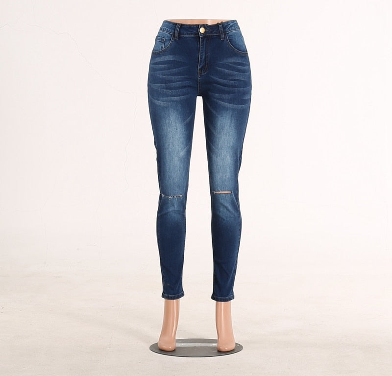 Buy Cheap High Waist Skinny Ripped Jeans push up Denim Jeans Boyfriend Jeans For Women Plus Size Pencil Pants Vintage Stretch Mom Jeans Online - SunLify