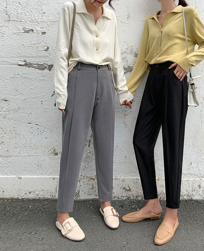 Spring And Autumn Harem Pants Female Nine Points Loose Casual Pants - SunLify