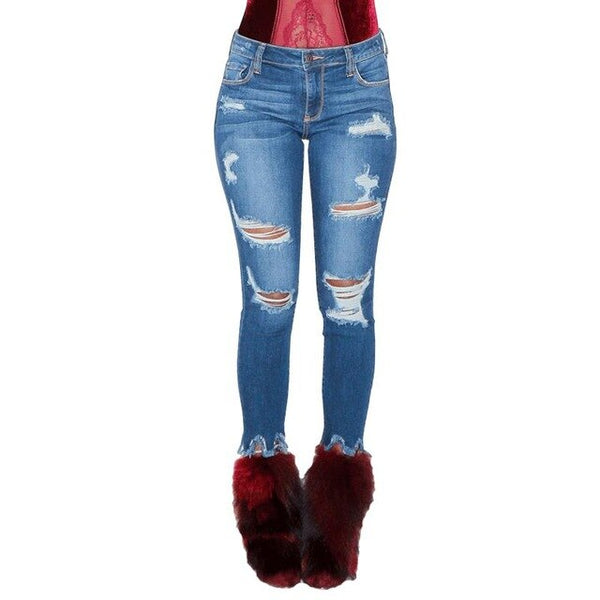 Buy Cheap Hole Ripped Boyfriend Jeans Women calca jeans Pants Denim Vintage skinny push up jeans High Waist Casual ladies Slim mom jeans Online - SunLify