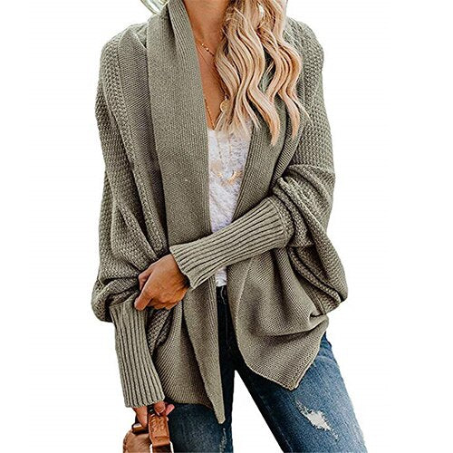Buy Cheap Autumn winter women cardigan batwing sleeve casual coat clothes Online - SunLify