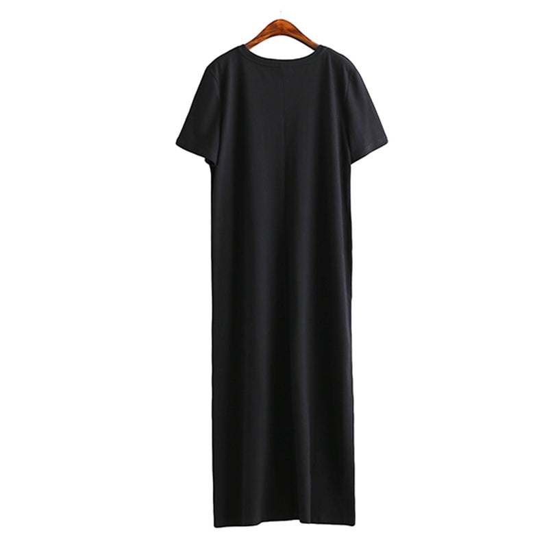 T Shirt Dress Women Casual Boho Vintage Bandage Wrap Long Dresses - SunLify