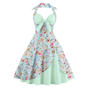 Buy Cheap Plus Size 4XL Katoen Jurk Bloemen Patroon Jurken 60's Rockabilly Party Online - SunLify