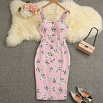 Buy Cheap Summer Strappy Floral Bodycon Dress Women Pencil Dresses Online - SunLify