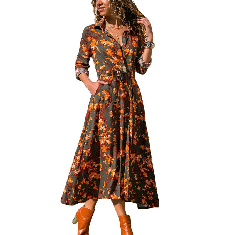 Buy Cheap Summer Long Dress Women Long Sleeve  Shirt Dress Ladies Casual Dresses Online - SunLify