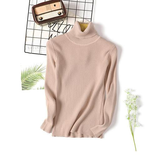 Buy Cheap Long Sleeve Ribbed Sweater for Women Warm Pullover Knitted Sweater Online - SunLify