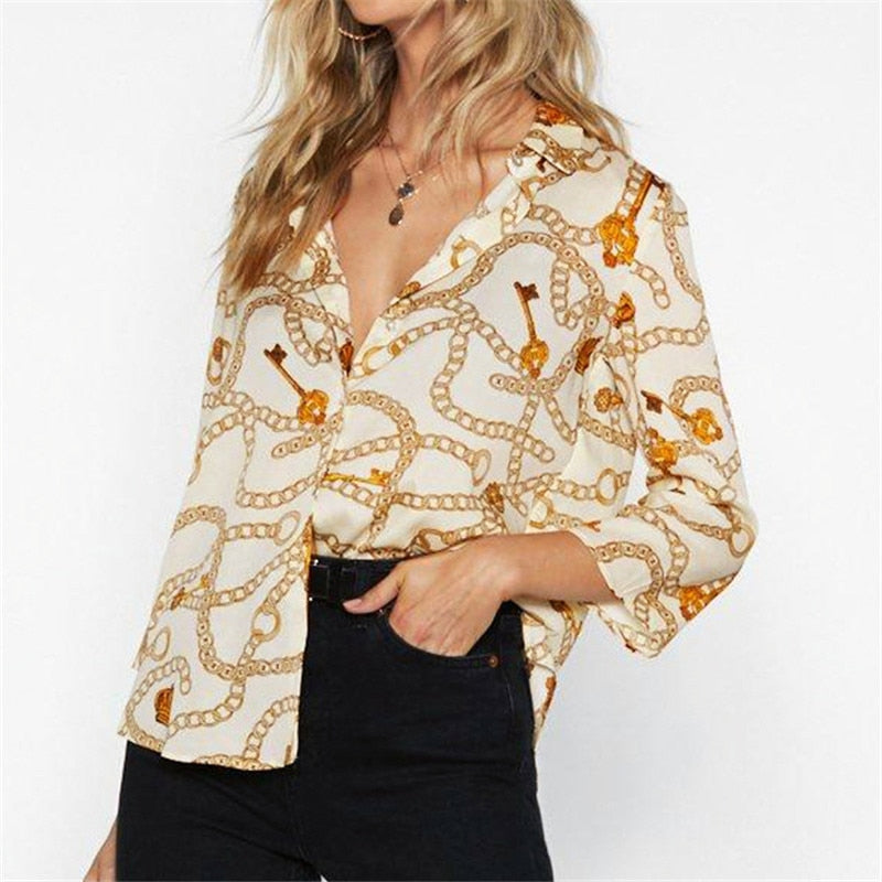 Buy Cheap Women Blouses Summer Chiffon Blouse Office Casual Tops Online - SunLify