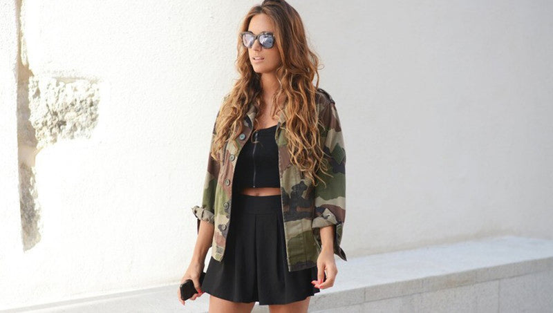Buy Cheap Women Fashion Camouflage Jacket Coat Autumn Winter Casual Street jacket Online - SunLify