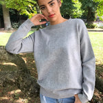 Buy Cheap Women Long-sleeve Sweatshirt Round Neck Lace Up Casual Pullover Online - SunLify