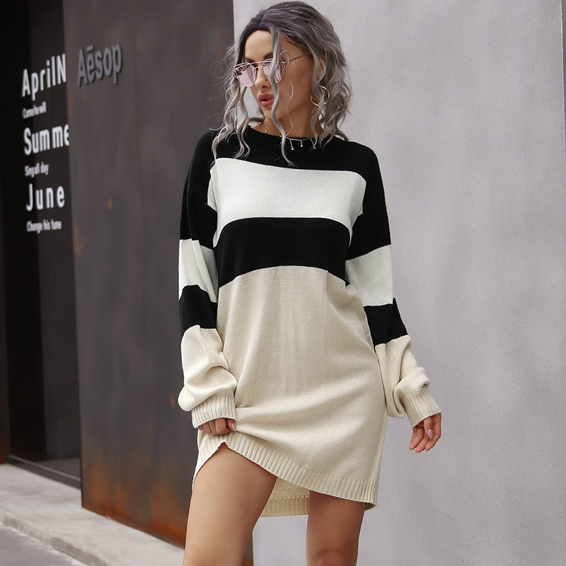 Cute Casual Long Sleeve Loose Dress Short - SunLify
