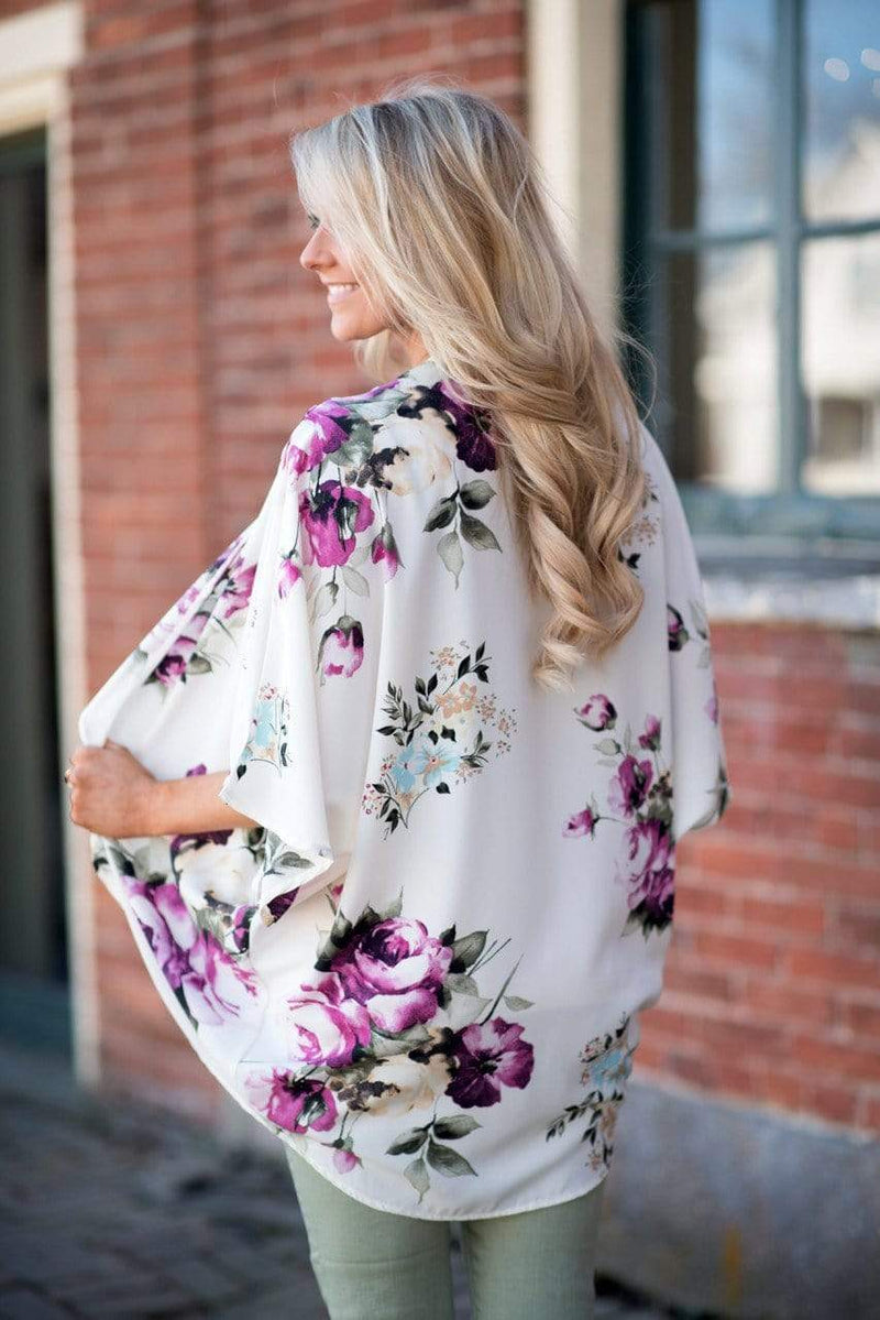 Buy Cheap Bohemia Flower Print Summer Beach Women's Cardigan Loose Chiffon Coat Online - SunLify