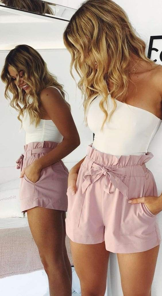 Beach Hot Pants Summer Shorts Beach High Waist Shorts Ladies Shorts - SunLify