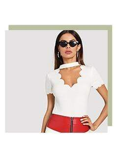 Elegant V Collar Short Sleeve Solid Tee Summer Women Casual Top - SunLify
