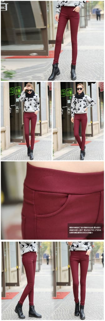 Women Pants Velvet Thickening Pants Trousers Plus Size