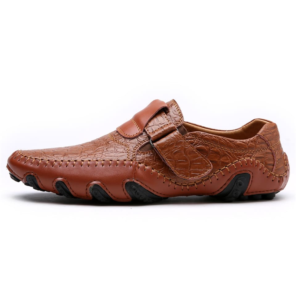 Mens Casual Shoes British Style Moccasins Genuine Leather Flats