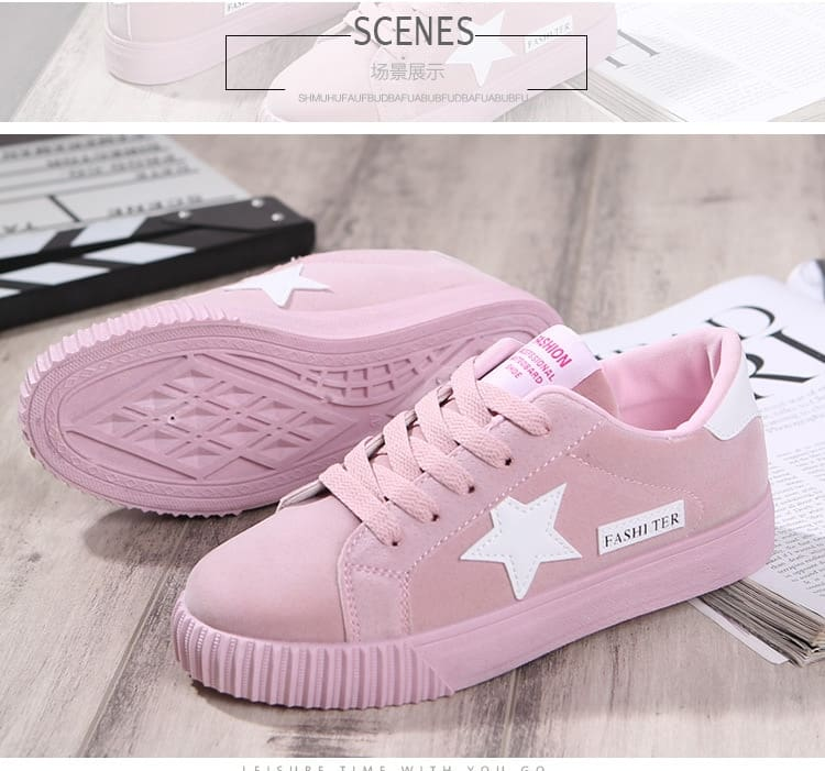 Women Casual Shoes Lace Up Women Flat Shoes Sneakers Round Toe
