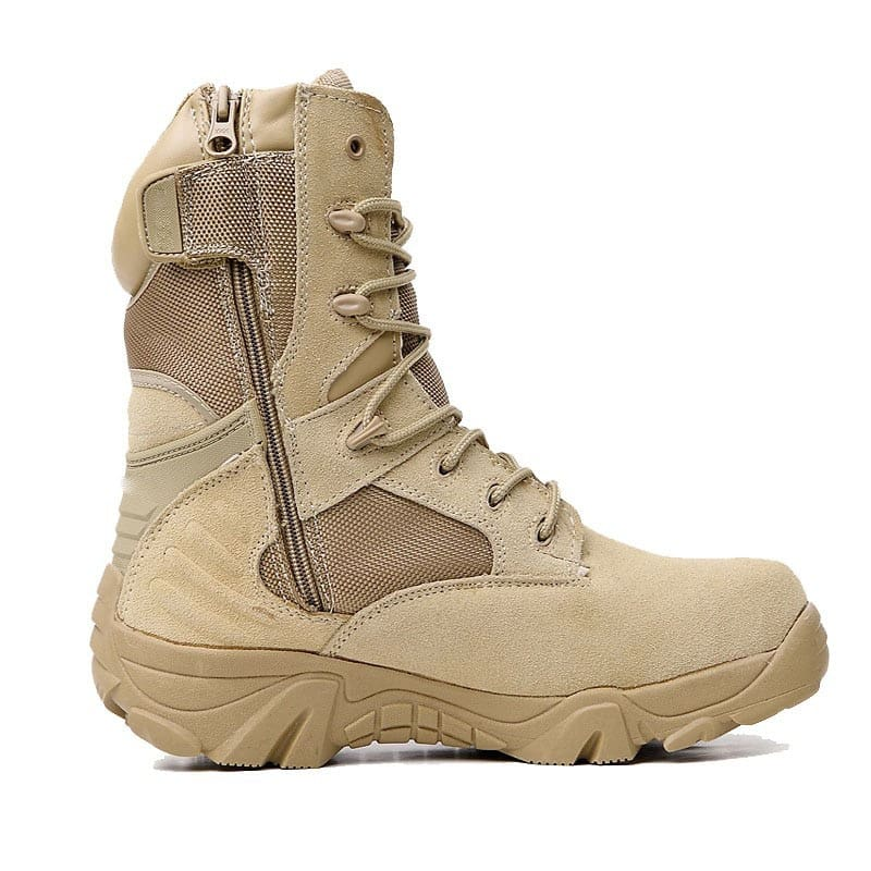 Men Military Boots Army Work Shoes Leather Snow Boots 4 Style