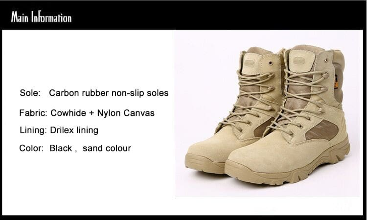 77f88b2e8 ... Men Military Boots Army Work Shoes Leather Snow Boots 4 Style ...