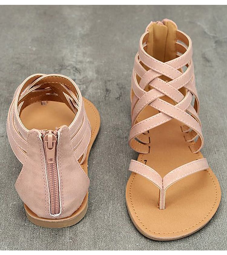 Women Sandals Female Flat Sandals Rome Style Cross Tied Sandals