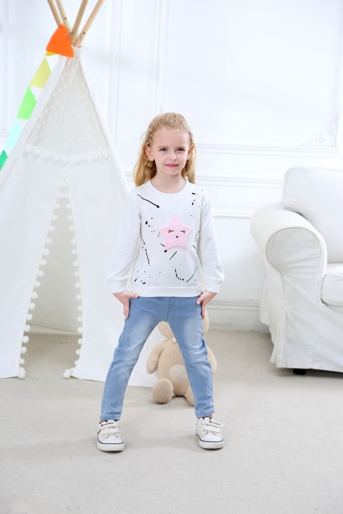 Baby Girls Clothing Long Sleeve Childrens T-Shirts Casual Tops