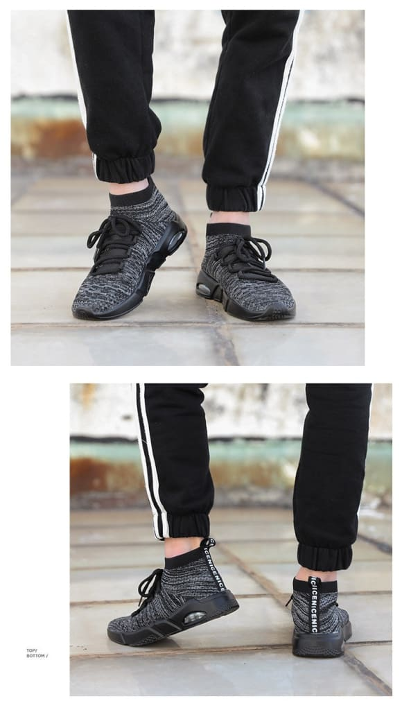 Fly Knit Breathable Mens Sports Shoes Hard Wearing Shock Absorption