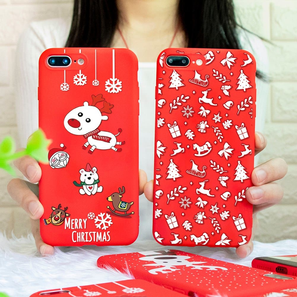 Cartoon Christmas Phone Case for iPhone X Xs Max XR Cover