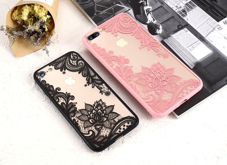 3D Lace Phone Case For iPhone XS XR XSMax