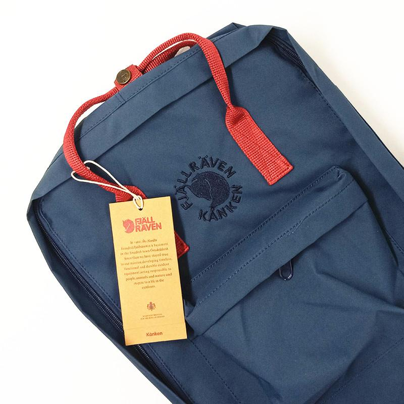 16L RE-Backpack - Navy Blue/ Red