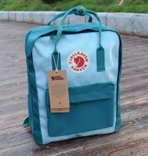 7/16/20 L Backpack School Bag Travel Sea Green / Sky Blue