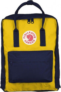 16L/ Classic BackPack Brand School Bag Travel Navy/Warm Yellow