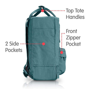7L/ Mini BackPack Brand School Bag Travel Frost Green