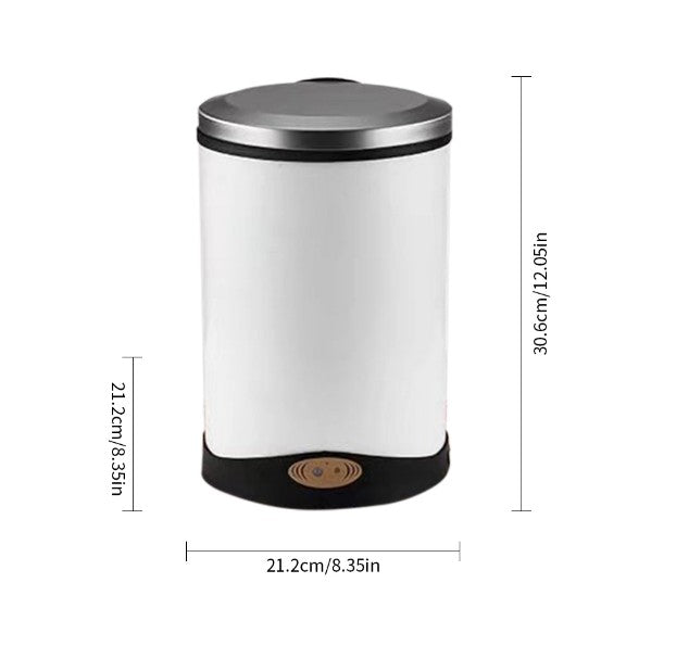 Sensor Trash Can Automatic Stainless Steel Garbage Can, Big Lid Opening  Touchless Trash Bin for Kitchen Home Office (6 L/1.6 Gallon, )