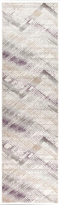 Aspect Riverside Jagged Aubergine Runner Rug