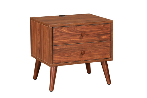 Amalfi Bedside With USB Port, Walnut