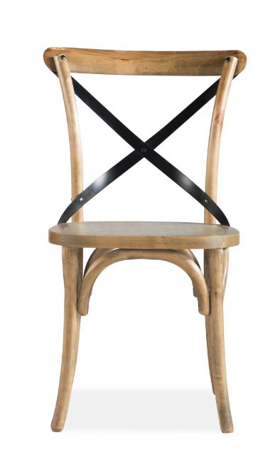 Corsica Cross Metal Back Dining Chair
