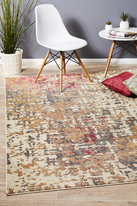 Crystal Sonia Contemporary Rug Rust Fuschia
