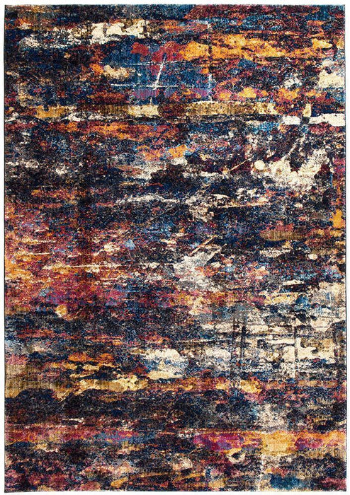 Dreamscape Splash Modern Midnight Rug