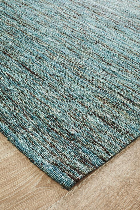 Escape Eliza Stunning Flat Woven Rug Duck Egg