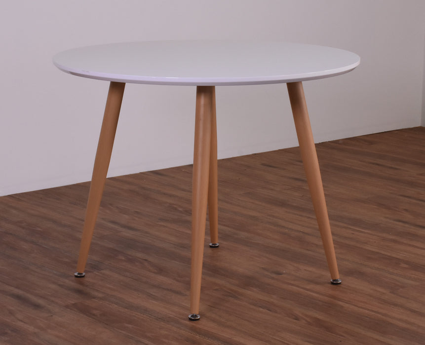 Helsinki 1m Round Dining Table, White High Gloss