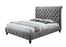 Poloma Queen Bed, Dark Grey Velvet