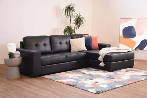 Cody Leather Look Chaise Lounge