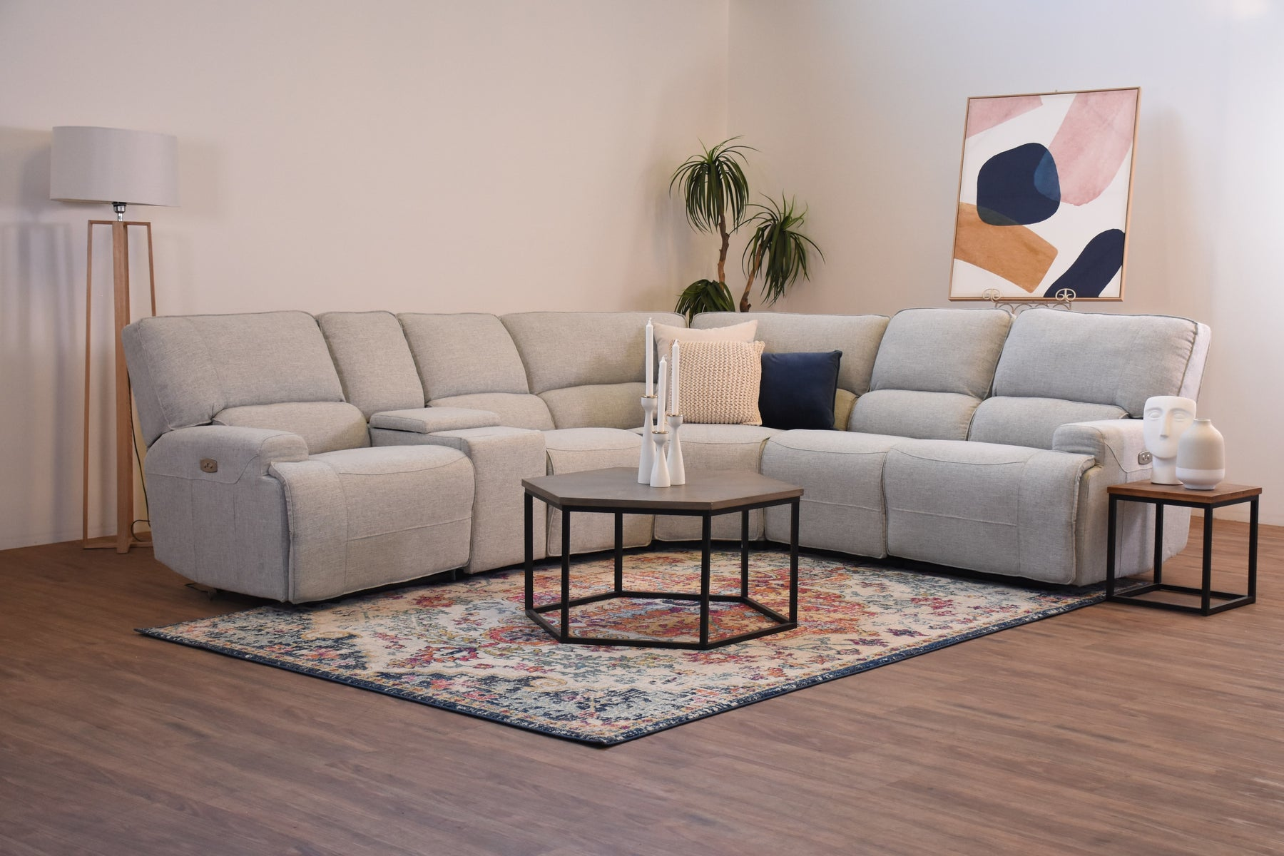 Hemingway Corner Modular With Electric Recliners